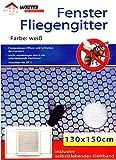10er Set Fenster Fliegengitter weiß 130x150cm | Fliegennetz | Insektenschutz