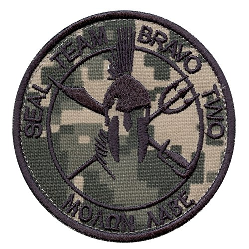 2AFTER1 ACU Seal Team Two ST2 Bravo Molon Labe US Navy DEVGRU NSWDG Morale Touch Fastener Patch Seal Team 2 Patch