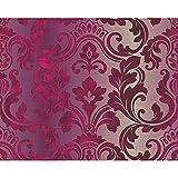 A.S. Creation Tapete Damast Klassisches Muster Motiv Texturiert Luxus - Lila 954171