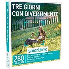 Idea Regalo - SMARTBOX - Cofanetto regalo uomo donna coppia - Tre giorni con divertimento - idee regalo - 280 soggiorni con attività in agriturismi e hotel 3*