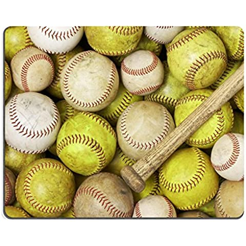 Luxlady-Tappetino per mouse da gioco a forma di palle da baseball con mazza softballs ID 5299464 immagine