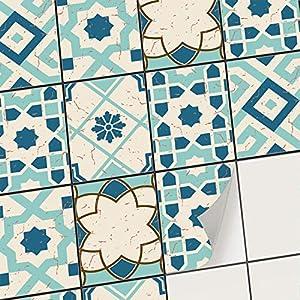 creatisto Fliesenaufkleber Fliesenfolie Mosaikfliesen - Aufkleber Sticker für Wandfliesen I Klebefliesen Deko Folie für Fliesen in Küche u. Bad/Badezimmer (15x20 cm I 12 -Teilig)