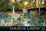 Magische Gärten 2019: Großer Foto-Wandkalender mit Bildern von verwunschenen Gärten. Edler schwarzer Hintergrund und Foliendeckblatt. PhotoArt Panorama Querformat: 58x39 cm.