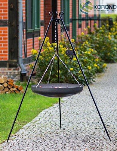 Schwenkgrill - 1,80m mit Kurbel incl. Ø 70cm Stahl-Wok