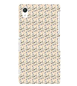 Fiobs Designer Phone Back Case Cover Sony Xperia Z2 (5.2 Inches) ( Girly Colorful Pattern Design funky )