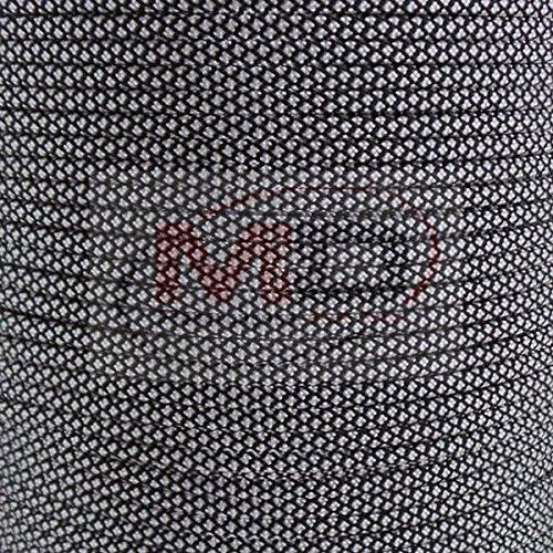 MD FlashLights Etc Ltd 30,5 m Argent Diamant véritable fabriquée aux États-Unis 7 brins type lll 550 Paracord 100% nylon