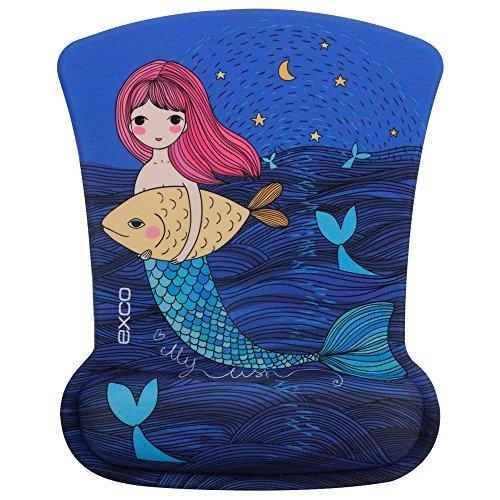Lady de sirena–EXCO elegante diseño Wrist Rest Mouse Pad con suave cojín apoyo oficina escritorio suministros
