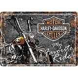 Nostalgic Arts - Harley Davidson Motorcycles - My Favourite Ride - Metal Postcard Sign