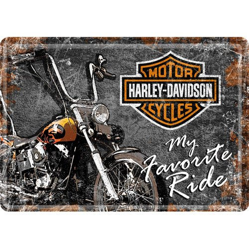 'Nostalgic Art–Harley Davidson motocicletas–My