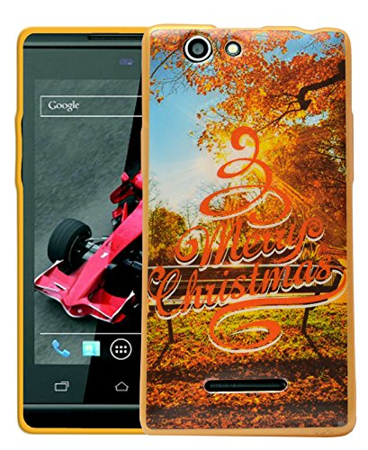 ECellStreet Printed Back Case Cover For Xolo A500s - Merry  available at amazon for Rs.189