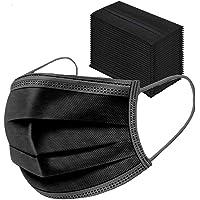 ARES 50 PCS Noir, Tissu Non Tissé 3 Couches (Noir, Adulte)