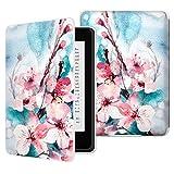 Moko Kindle Paperwhite Hülle - Ultra Leightweight Schutzhülle Smart Cover mit Auto Sleep/Wake Funktion für Amazon Kindle Paperwhite (2016/2015/2013/2012 Modelle mit 6 Zoll Display), Pfirsichblüte