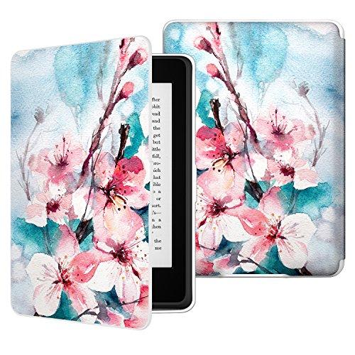 MoKo Kindle Paperwhite Hülle - Ultra Leightweight Schutzhülle Smart Cover mit Auto Sleep/Wake Funktion für Alle Kindle Paperwhite (2016/2015 / 2013/2012 Modelle mit 6 Zoll Display), Pfirsichblüte