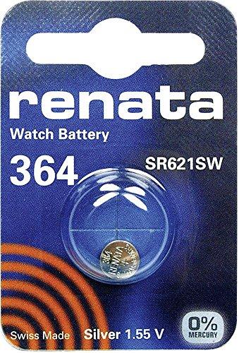 364 (SR621SW) Batteria Pulsante / Ossido di Argento 1.55V /