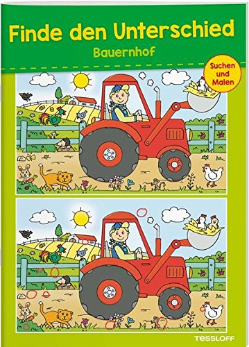 Finde den Unterschied Bauernhof: 24 kniffelige Suchbilder mit Lösungsteil (Rätsel, Spaß, Spiele)