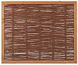 Unbekannt Weidenzaun Weidengeflecht Sichtschutz Sichtblende mit Holzrahmen Cordoba (120 x 100 cm)