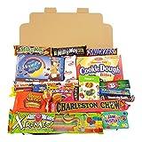 Confezione Media di Snack Americani | Caramelle e Cioccolato per Idea Regalo di Natale e Compleanno | Vasta Gamma tra cui Jolly Snickers M&Ms Reeses | 20 Pezzi in Confezione Vintage di Cartone