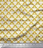 Soimoi Gold Kunstseide Stoff verzierte filigran Damast