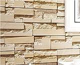 Yosot Retro Ziegel Stein Effekt Tapete Stereoskopischen 3D-Brick Wall Paper Wohnzimmer Schlafzimmer Tv Hintergrundbild C