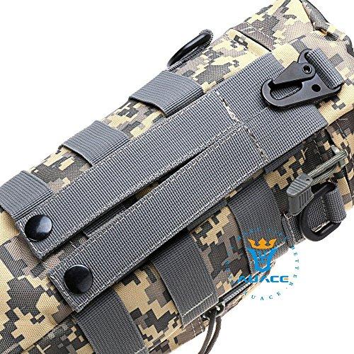 Multifunzione sopravvivenza Gear Pouch Tattico Molle Pouch Zipper Borraccia Pouch, campeggio portatile Pouch Bag Borse attrezzi Pouch Custodia da viaggio, OD ACU