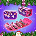 GirlZone: Fun Filled Pencil Case Including 38 Fruit Scented Marker Pens. Great Christmas Birthday Present Gift For Girls Age 3 4 5 6 7 8 9 10 11 12 Years Old.