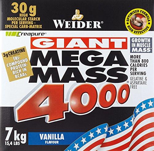Weider Mega Mass 4000, Vanille (1 x 7 kg)