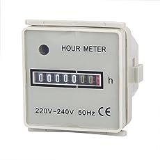 Generic Hour Meter 220-240VAC - Square Digital Gauge