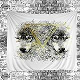 GuDoQi Tapisserie Wolf Tier Tapisserie Wandteppich Wand Dekoration Home Decor Beach Blanket
