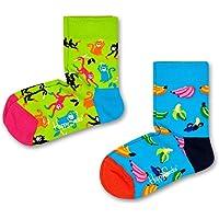Happy Socks Calze (Pacco da 2) Unisex-Bimbi