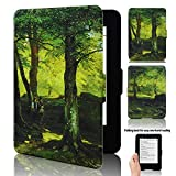 Kindle 7th generation Case - ACdream Amazon Kindle 7th Generation Case - Ultra Slim Prmium PU Leather Cover Case for Kindle 7th Generation 2014 Vesion with New Fashion Design, Peaceful tree - Lined paths