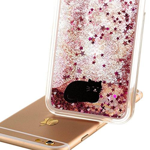iPhone SE Hülle Glitzer,iPhone SE Hülle Hard,iPhone SE Hülle Clear,iPhone SE Transparent Crystal Clear flüssigkeit Case Hülle Klare Ultradünne Transparente Gel Schutzhülle Durchsichtig Rückschale Etui Animal Series 2