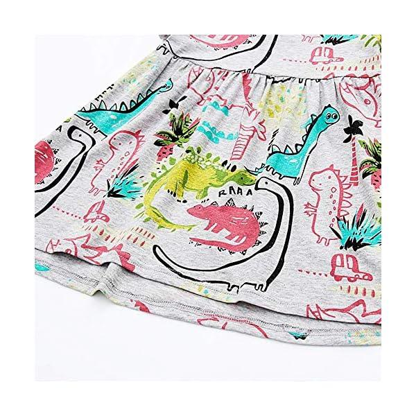 Aini Vestido De BebéS De Verano Vestido De Manga Corta para NiñA Vestido Estampado Camiseta Infantil Vestido De… 4