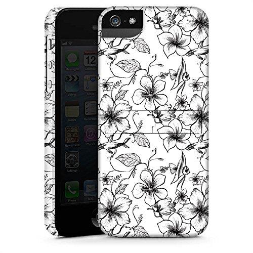 Apple iPhone X Silikon Hülle Case Schutzhülle Blumen Vintage Muster Premium Case StandUp