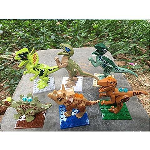 Highdas - Figuras de dinosaurios, 6 unidades