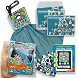 Boy Luxury Microfiber Cleaning Cloth Kit + Microfibre Sticker. Best Cleaner Designed For Children KitKat Tablets, IPhones, Glasses, Kids Fire, BabyPad, Laptops, Gaming Consoles & More. Limited Edition Blue Medium Cloths + Key