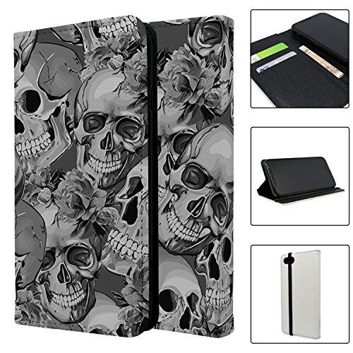 Halloween Totenkopf Muster Full Flip Case Schutzhülle für für Apple iPhone 8–s4027