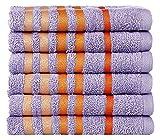 Casa Copenhagen Exotic 6 Piece 475 GSM Cotton Face Towel Set - Dewberry