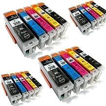 20 Youprint® YP-PGI550XL YP-CLI551XL Cartuchos de impresión CON CHIP e indicador de nivel Pantalla para Canon Pixma iP7250, MG5550, MG5650, MG6450, MG5450, MG6350, MG 7550, MX725, MX925, compatible con PGI550BK, CLI551C, CLI551M, CLI551Y Y CLI551BK