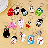 Kids Character Keychains Collection - Set Of 12 Keychain With 5 LED Balloon