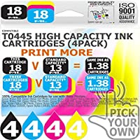 T0445 16 Pack T0445 Our Capacity Bk 18ml Colours 18ml