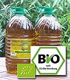 BIO Olivenöl 5 Liter Virgin extra Erste Kaltpressung. Diverse erste Preise Andalusien/Spanien Sortenrein Hojiblanca. Spitzenqualität. Mild mit leichter Schärfe im Nachklang. Dieses Olivenöl kann auch zum Grillen, Backen, Dämpfen, Braten oder Dünsten verwendet werden. Wird hauptsächlich verwendet in Bio-Spitzenrestaurants.