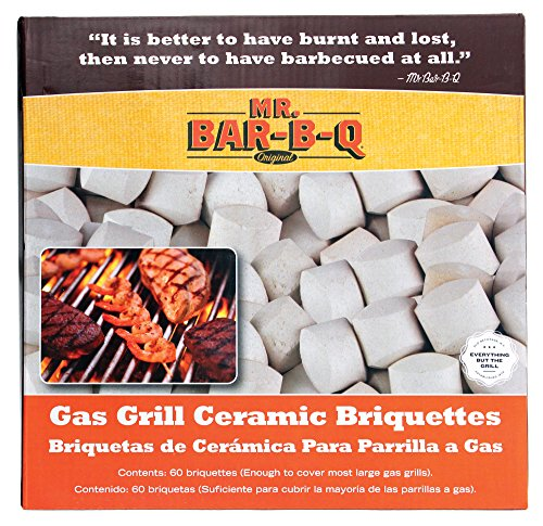 Mr. Bar-B-Q 06000X Ceramic Briquettes - Grey (60-Piece)