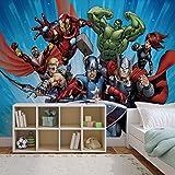 Marvel Avengers - Forwall - Fototapete - Tapete - Fotomural - Mural Wandbild - (963WM) - PANORAMIC - 250cm x 104cm - VLIES (EasyInstall) - 1 Piece