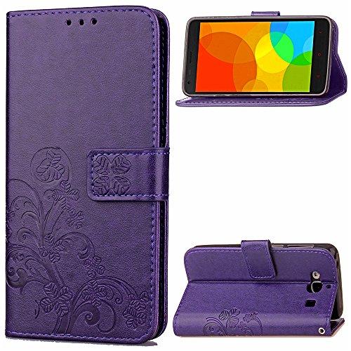 Casefirst Xiaomi Hongmi Redmi 2 2A Leather Wallet Case with Shell Xiaomi Hongmi Redmi 2 2A Flip Cover, Shell, Durable Protective Case Case (Purple)