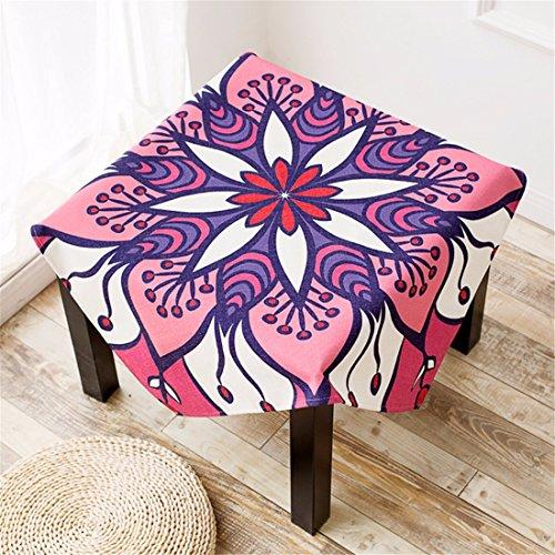 110* 110Violett Pink Aztec Floral Geometrische Esstisch Tuch Baumwolle Leinen Schreibtisch Garden rechteckig, quadratisch non-ironing Umweltfreundlich Tischläufer Pink Floral Tischläufer