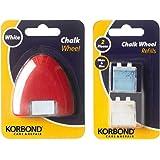 Korbond - Rueda de marca de tela con recambios, 3 cartuchos de tiza incluidos, ideal para sastrería, acolchar, coser, manuali