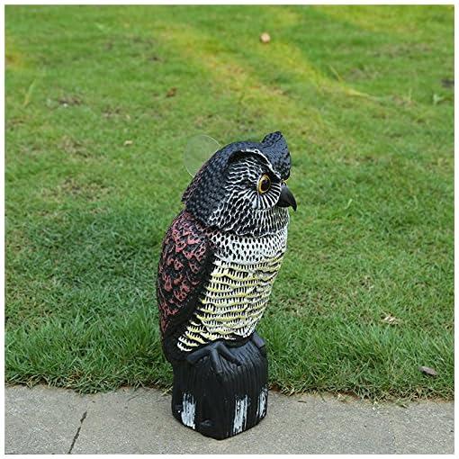 Gufo spaventapasseri wind-action uccello repellente per allontanare gli uccelli e animali nocivi come piccioni da giardino zone