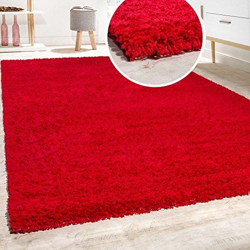 Shaggy - tappeto a pelo lungo in diversi colori e misure, dimensione:160x220 cm, colore:rot