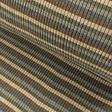 Grobstrick Bündchen Meterware Streifen College Bündchenware grau blau - Preis Gilt für 0,5 Meter