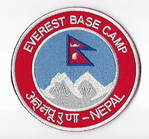 Mount Everest Base Camp Nepal Patch 9 cm Embroidered Iron on Badge Bergsteigen Klettern Aufnäher Reisen Souvenir DIY Tasche Rucksack T-Shirt Jacke Gepäck (Everest-tasche)